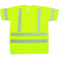 96002-0-107, ANSI Class 3 Durable Flame Retardant T-Shirt, Lime, 4XLarge, Mega Safety Mart