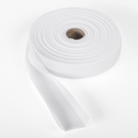 Quilt binding, brushed, 1' centerfold, 25 yds, White