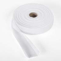 9800-800-25, Quilt binding, brushed, 1 centerfold, 25 yds, White, Mega Safety Mart