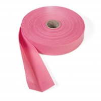 Quilt binding, brushed, 2' fold in half, finish 1', 25 yds, Hot pink