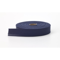 Quilt binding, brushed, 2' fold in half, finish 1', 25 yds, Navy