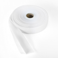 Quilt binding, brushed, 2' fold in half, finish 1', 25 yds, White