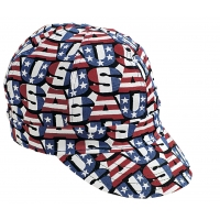 M00210-00000-0775, Kromer Red White Blue USA Style Welder Cap, Cotton, Length 5, Width 6, Mega Safety Mart