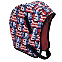 M13210, WL3-210 Kromer High Quality Hard Hat Winter Liner with USA Regular Nape, Red/White/Blue, Mega Safety Mart