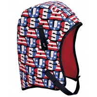 M14210, WL4-210 Kromer High Quality Hard Hat Winter Liner with USA Long Nape, Red/White/Blue, Mega Safety Mart