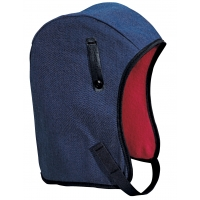 M14450, WL4-45 Kromer High Quality Hard Hat Winter Liner with Denim Long Nape, Blue, Mega Safety Mart