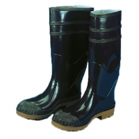 M14502-1-10, 16 in. PVC Work Boot Over The Sock, Black Plain Toe, Size 10, Mega Safety Mart