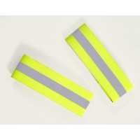 Reflective Elastic Wristband with Velcro Closure, 10 in. Length x 1-1/2 in. Width, Lime