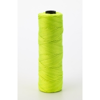 Nylon Mason Twine, 1/4 lb. Twisted, 18 x 275 ft., Glo Lime (Pack of 6)