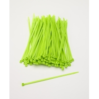 Multi-Purpose Locking Ties, 7 in., Neon Green (Pack of 100)