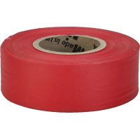 M16002-79-1875, Flagging Tape, Ultra Standard, Red (Pack of 12), Mega Safety Mart