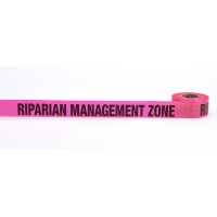 Flagging Tape Printed 'Riparian Management Zone', 1-1/2' x 50 YDS, Glow Pink (Pack of 9)