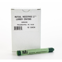Lumber Marking Crayons, Water Resistant, 4 1/2' x 1/2', Green (Pack of 12)