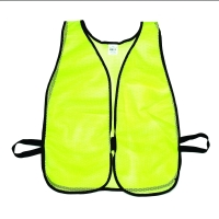 High Visibility Soft Poly Mesh Plain Safety Vest, Lime