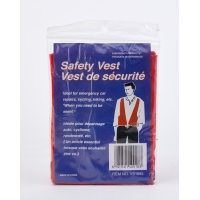 High Visibility 10 mil PVC Disposable Safety Vest, Blaze Orange