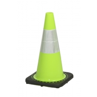 Traffic Cone with 3 lbs Reflective, 18' Height, Lime