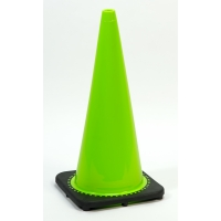 Traffic Cone with 7 lbs Plain Finish, 28' Height, Lime