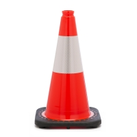 Traffic Cone with 3 lbs Reflective, 18' Height, Orange