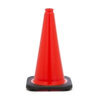 Traffic Cone with 3 lbs Plain Finish, 18' Height, Orange