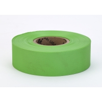 PVC TUNDRA Flagging Tape, 5 mil, 1-3/16' x 50 yd., Glo Lime (Pack of 12)