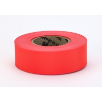 PVC TUNDRA Flagging Tape, 5 mil, 1-3/16' x 50 yd., Glo Orange (Pack of 12)