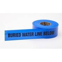 Polyethylene Non Detectable Underground Water Line Marking Tape, 4.5 mil Thickness, 1000' Length x 3' Width, Blue