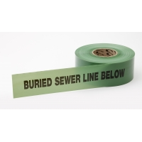 Polyethylene Non Detectable Underground Sewer Line Marking Tape, 4.5 mil Thickness, 1000' Length x 3' Width, Green