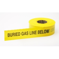 Polyethylene Non Detectable Underground Gas Line Marking Tape, 4.5 mil Thickness, 1000' Length x 3' Width, Yellow