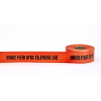 Polyethylene Non Detectable Underground Tele/Fiberoptic Marking Tape, 4.5 mil Thickness, 1000' Length x 3' Width, Orange