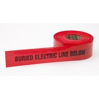 Polyethylene Non Detectable Underground Electric Line Marking Tape, 4.5 mil Thickness, 1000' Length x 3' Width, Red