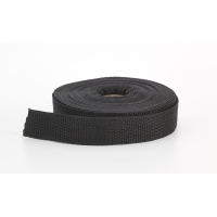 Polypropylene webbing, 1 in Wide, 10 yds, Black