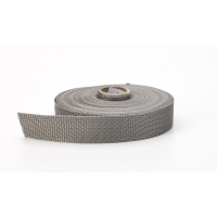 Polypropylene webbing, 1 in Wide, 10 yds, Gray