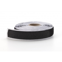 Adhesive loop tape,1 in, 3 yds, Black
