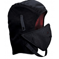 M24250, WL4-250V High quality Hard Hat Winter Liner Twill Long Nape with Mouthpiece, Black, Mega Safety Mart