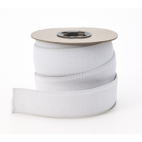 Plush elastic White 1 in - 10 yards