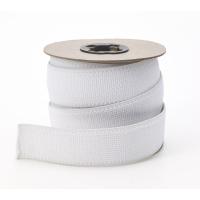 M3001-0000-125-10, Plush elastic White 1-1/4 in - 10 yards, Mega Safety Mart