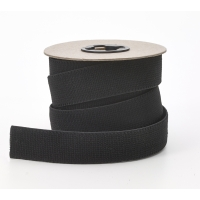 M3001-9999-125-10, Plush elastic Black 1-1/4 in - 10 yards, Mega Safety Mart