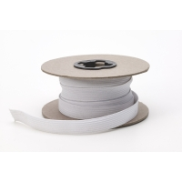 Braided elastic, .25 in Wide, 10 yds, White