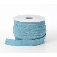Foldover elastic, .625 in Wide, 25yds, Aqua