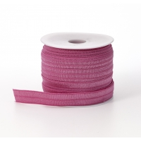 Foldover elastic, .625 in Wide, 25yds, Rose