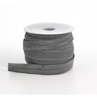 Foldover elastic, .625 in Wide, 25yds, Gray
