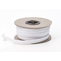 Flat draw cord, 1/2 in Wide, 15 yds, White