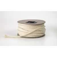 Draw cord, Natural 1/4 in cotton - 25 yards