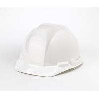 Polyethylene 4-Point Pin Lock Suspension Hard Hat, White