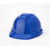 Polyethylene 4-Point Pin Lock Suspension Hard Hat, Blue