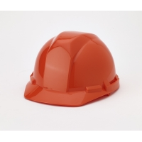 Polyethylene 4-Point Pin Lock Suspension Hard Hat, Orange