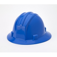 Polyethylene Ratchet Suspension Full Brim Hard Hat, Blue