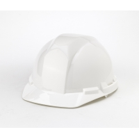 Hard Hat, 6-Point Ratchet Suspension, White