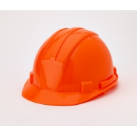 Hard Hat, 6-Point Ratchet Suspension, Hivis Orange