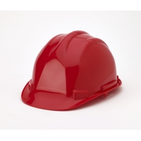 Hard Hat, 6-Point Ratchet Suspension, Red